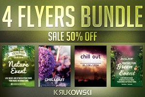 Nature Flyer Templates Bundle