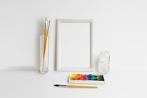 Frame Mockup with Watercolor