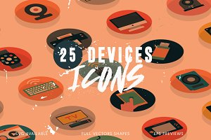 25 Devices Icons