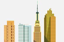 Set Of City Buildings