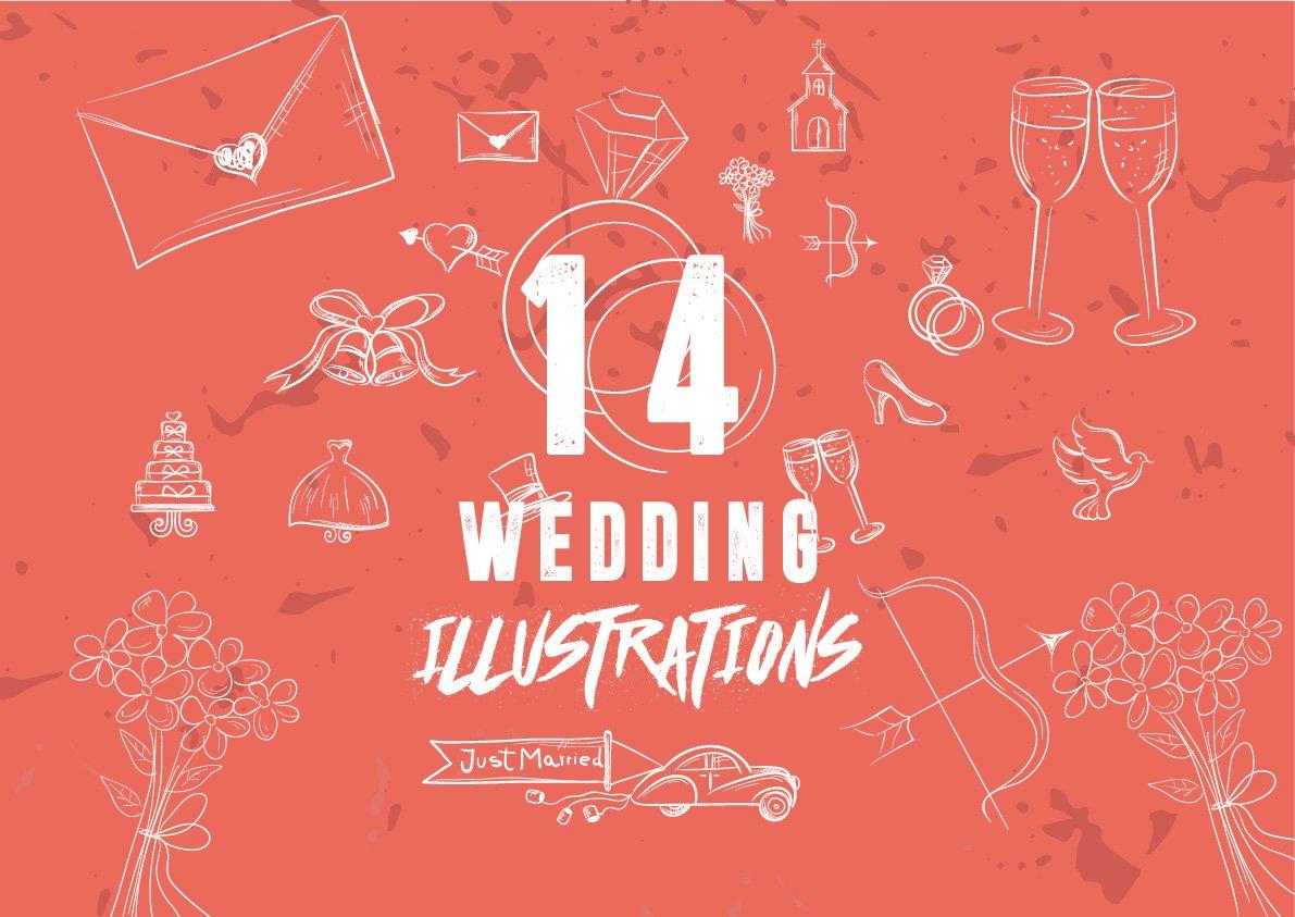 14 Hand-Drawn Wedding Illustration ~ Illustrations ~ Creative Market