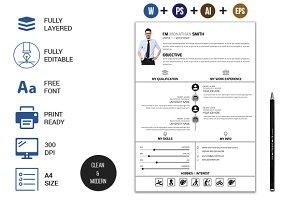 Clean CV/Resume