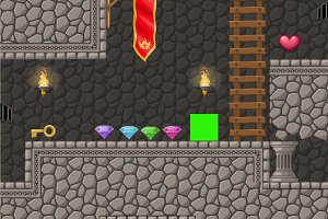 Dungeon platformer set 2d