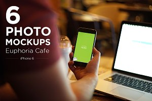 iPhone 6 Cafe Mockup Photos (6)