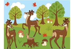 Woodland Deers