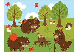 Woodland Hedgehogs