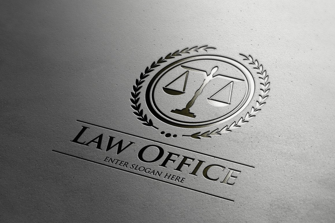 Law office logo logo templates on creative market for Office logo
