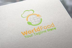 World Food Logo Template