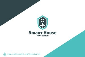 Smart House Logo Template