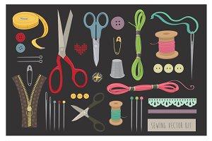 Sewing vector kit
