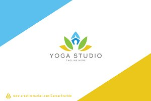 Yoga Studio Logo Template