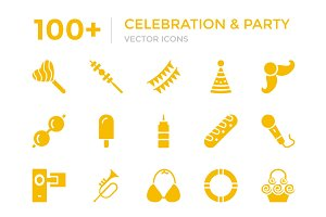 100+ Celebration and Party Icons