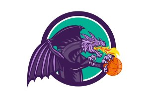 Dragon Fire Holding Basketball