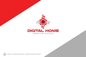 Digital Home Logo Template