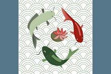 №112 Japanese motif pattern