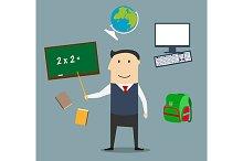 Teacher profession concept