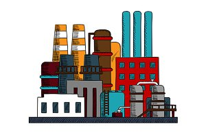 Industrial refinery factory