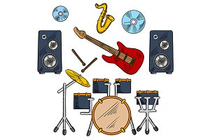 Musical band icons