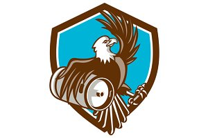 American Bald Eagle Beer Keg Crest