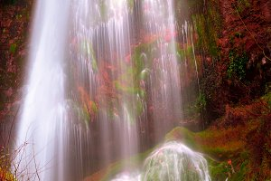 Waterfall with intense colors V