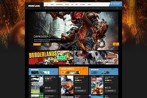 Powergame- Ecommerce PSD Template