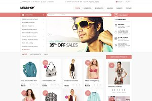 Megashop- multipurpose PSD template
