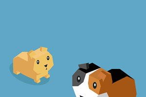 Pets Guinea Pig Icon Isometric