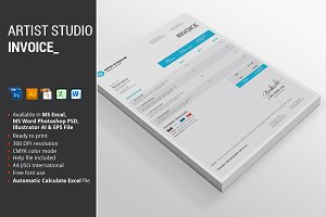 Artist Studio Invoice