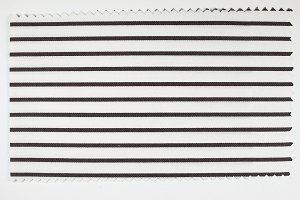 Black Striped fabric sample