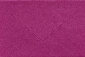 Pink envelope isolated
