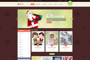 Giftshop- ecommerce PSD Template