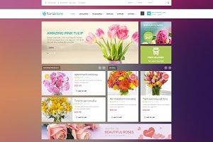 Floral - Responsive PSD Template