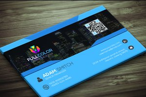 Creative Blue Business Card