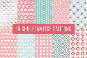10 Chic Seamless Pattern Set