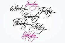 Calendar. Days of the week, months