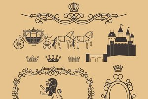 Vintage royal and princess decor