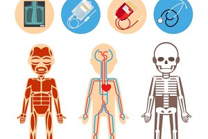 Medical infographics elements