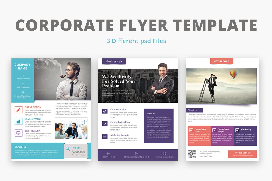 corporate flyer template flyer templates on creative market