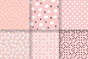 Simple cute patterns set