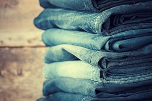Stacked fashion jeans