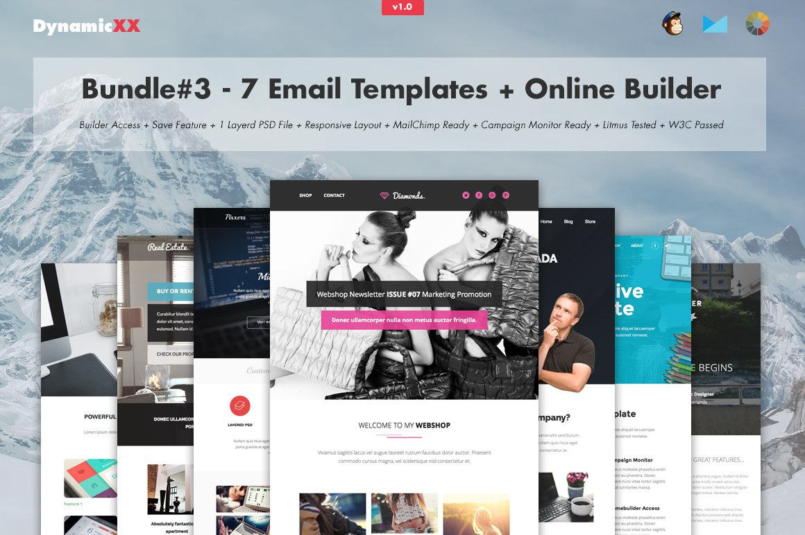 Bundle#3 - 7 Email Templates+Builder ~ Email Templates ~ Creative Market