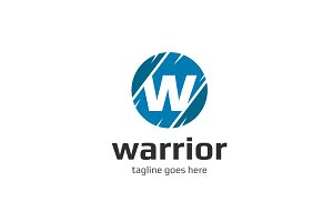Warrior W Letter Logo