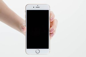 Female hand holding Iphone 6