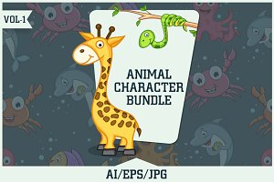 Animal Character Bundle Vol - 1