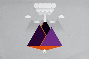 Volcano Eruption Minimalism
