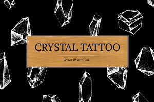 Crystals Vector Tattoo Illustration