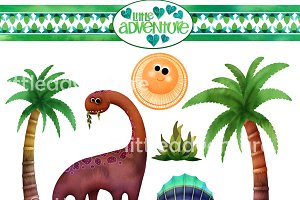 Dino Clipart - 15 PNG files