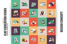 Flat Conceptual Education Icons