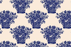 Vintage Provence Pattern. Flowers