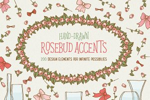 Rosebud accents - PNG only